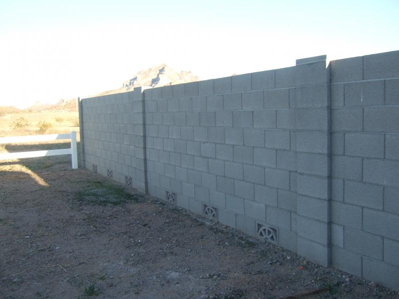 cinder block fence designs Quotes